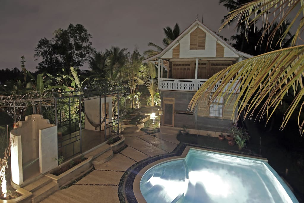 Enjoy the nights songs of the frogs and the nature sounds of the countryside ~Truly a unique experience in Bali