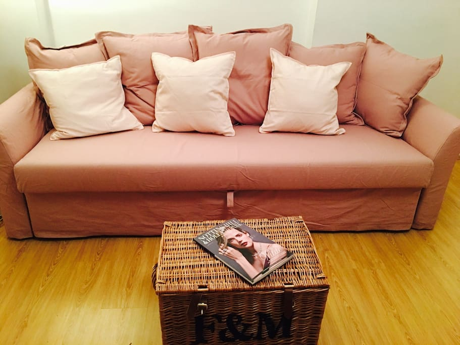New king size sofa bed in sitting room