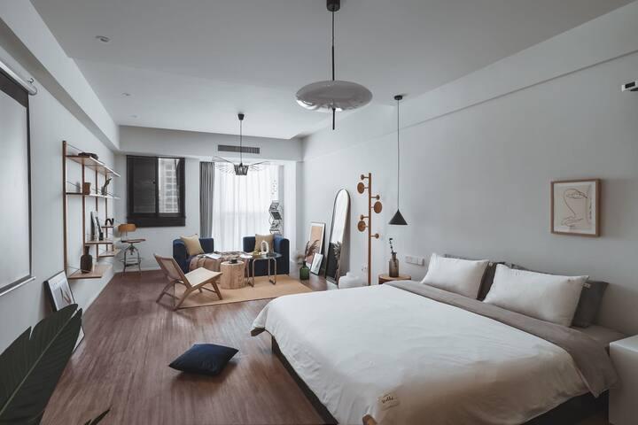 【日不落】新街口德基旁58平米一室一厅,超高层夜景,视野开阔,超大乳胶床垫,干湿分离,静享百寸影院