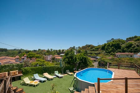 Romantic Cottage with shared pool in Valleseco - Valleseco - 度假屋