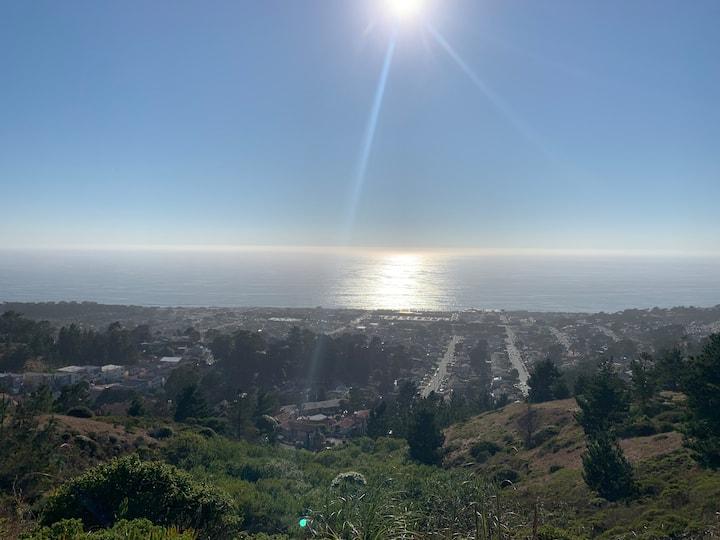 Scenic Pacifica studio- 15min to SF, 5min to beach