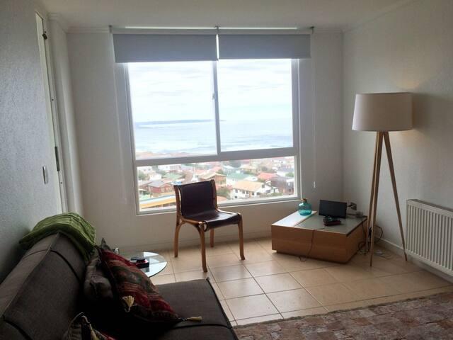 Maitencillo, luminoso departamento vista al mar - Maitencillo - Apartment