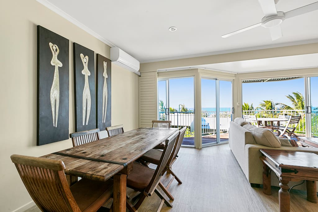 Dining room leading to the private balcony with superb ocean views