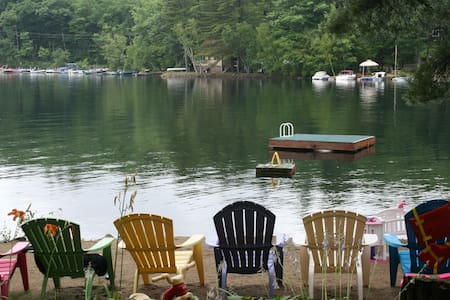 Cottages on Big Squam Lake in New Hampshire