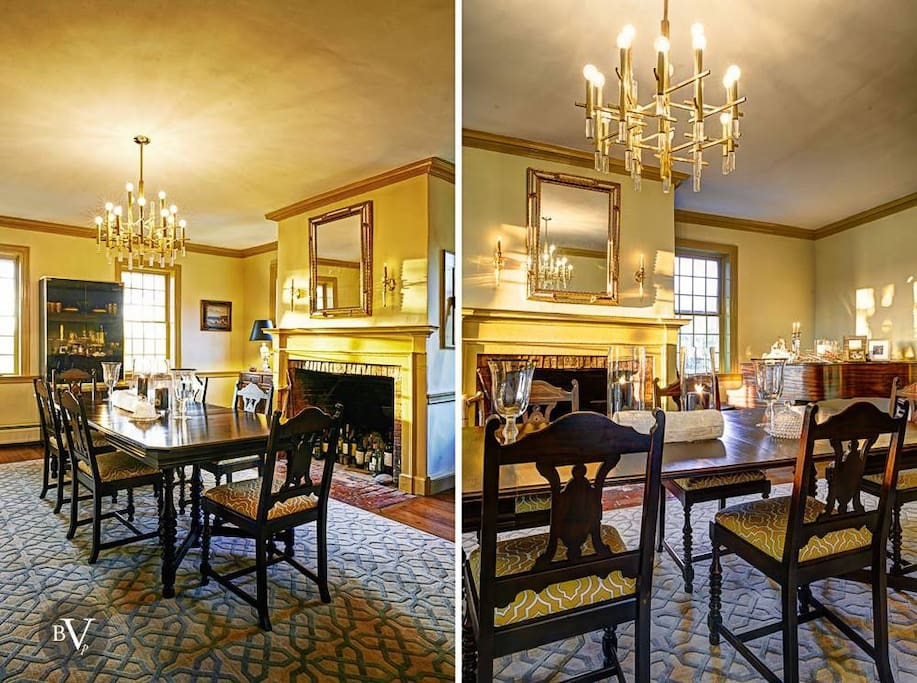 more views of he elegant dining room