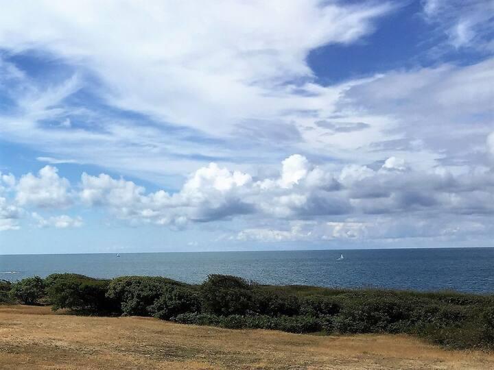 Charmant Studio avec magnifique vue mer, au calme