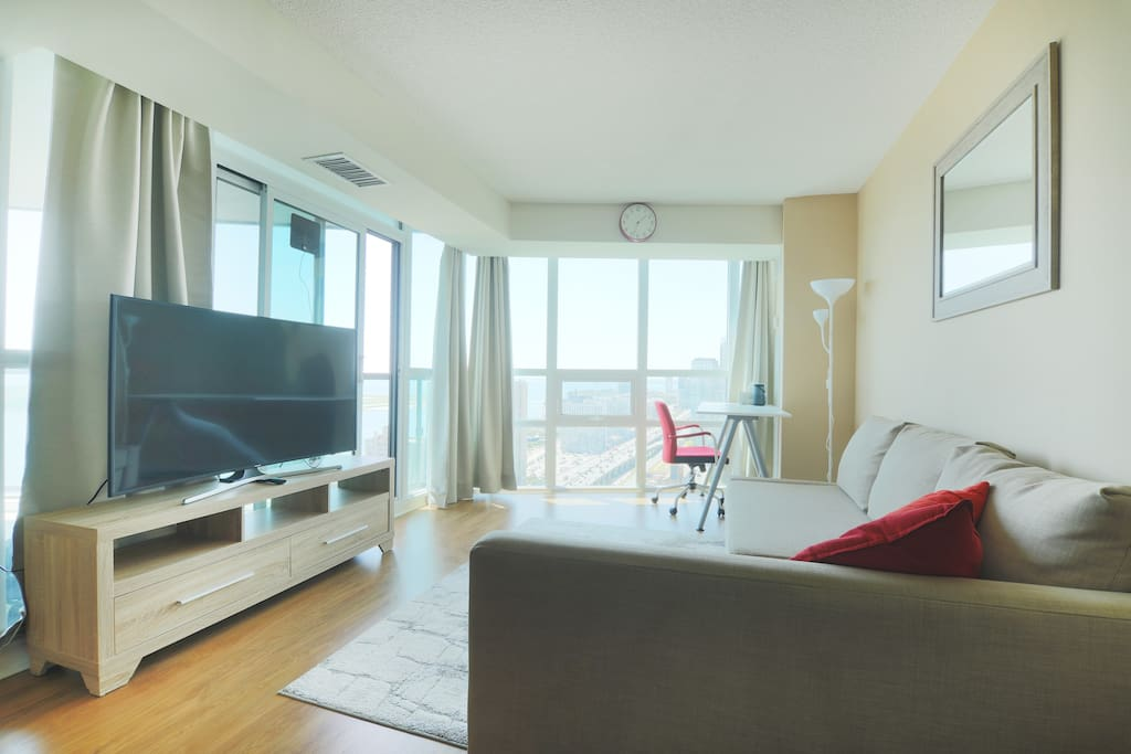 Living room - 55 inch TV