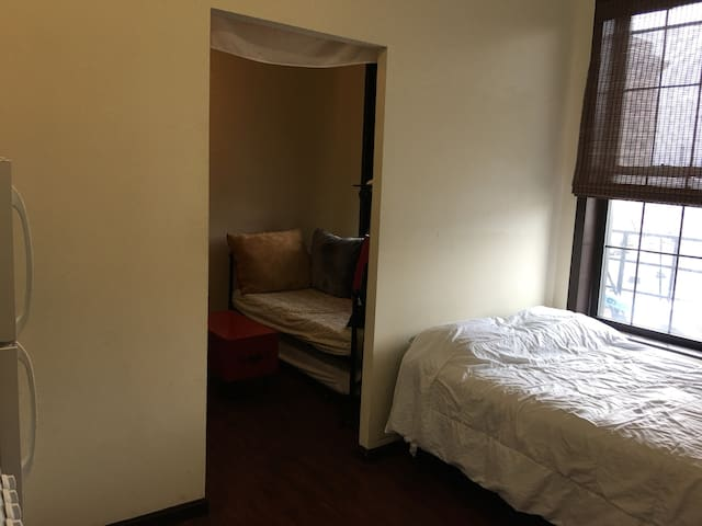 Private 1 and 1/2 room studio apartment!!