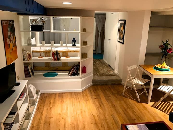 Private open concept Beach Studio steps to Lake