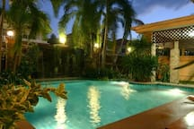 Relax & Enjoy The Private Pool at Night