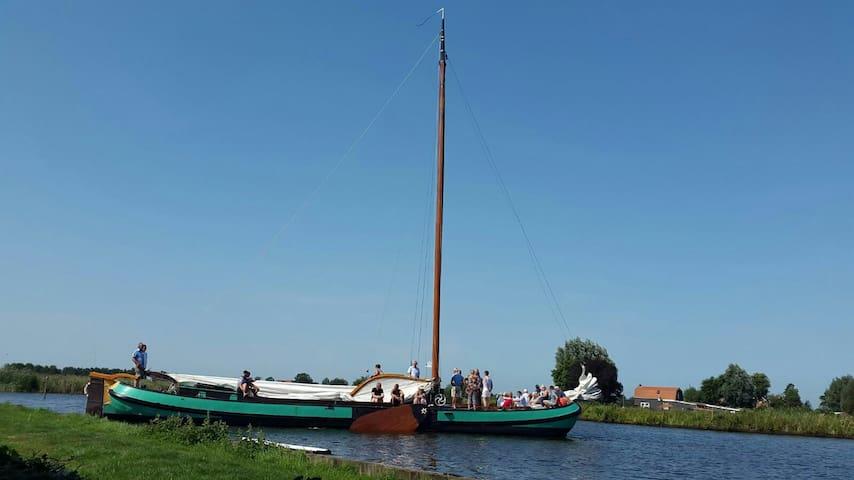4pers boot huisje aan water top locatie - langelille - Talo