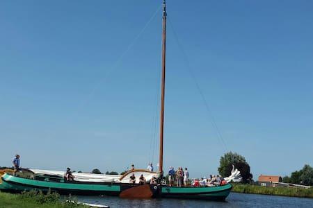 4pers boot huisje aan water top locatie - langelille - Haus
