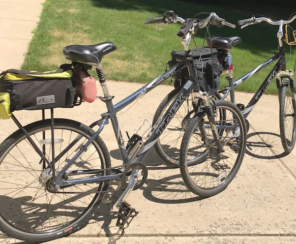 Trek 7-speed bicycles are available to our guests.