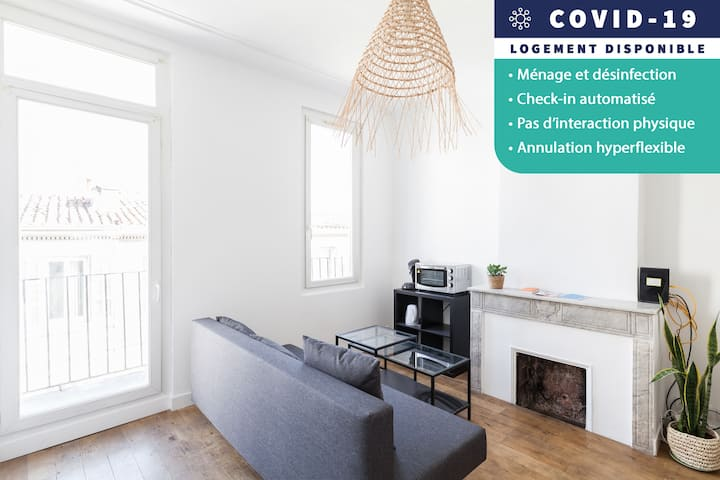 AUTOMATIC CHECK-IN - Cosy and bright two-room