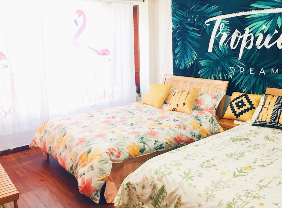 舒舒服服的床