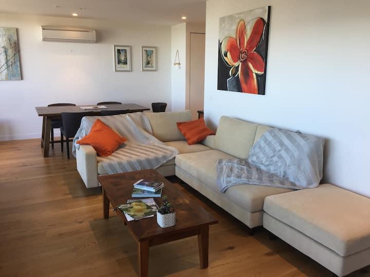 Luxury apartment: Park/CBD views, roof terrace!