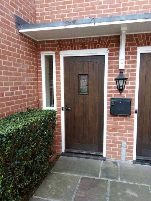 Solid front main entrance door