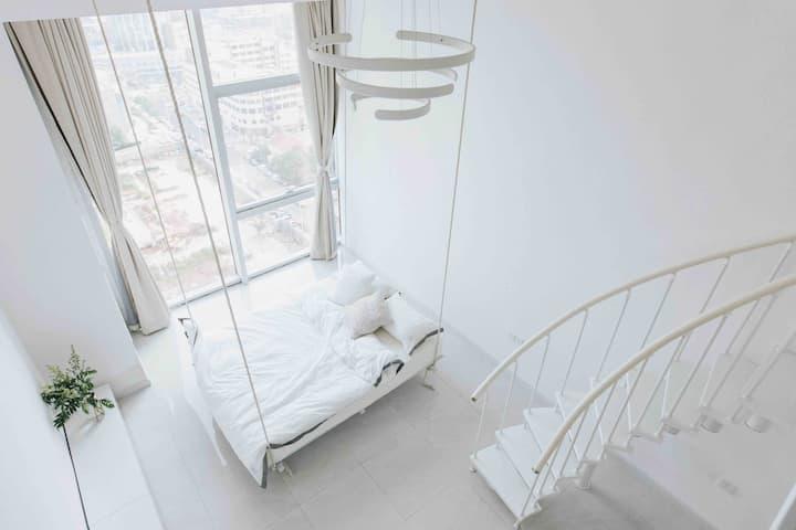 【茶白】沐浴海景 市中心loft 优雅的纯净