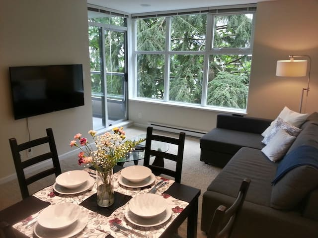 Great View! Modern, quiet, bright 2BD condo @ SFU