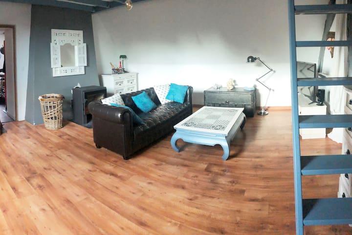 Bel appartement de 70m² avec jardin privatif