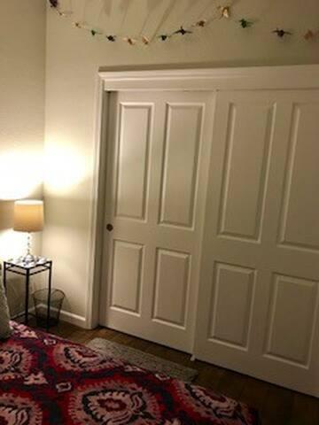 huge bedroom closet in guest room