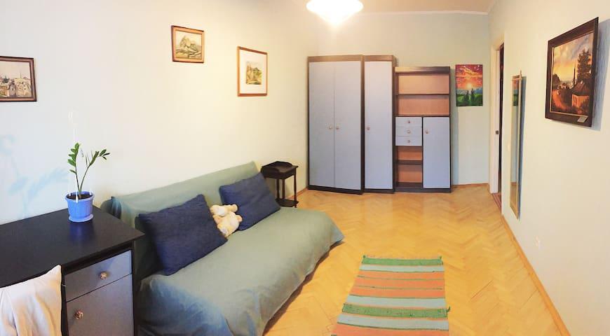 Кімната з видом на затоку Дніпра, Оболонська наб. - Kiev - Daire