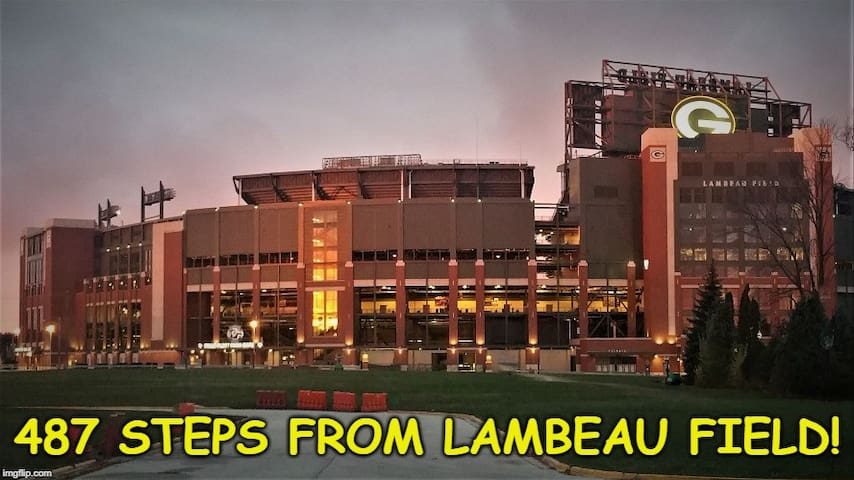 Tickets INCLUDED! Only 487 Steps to Lambeau Field