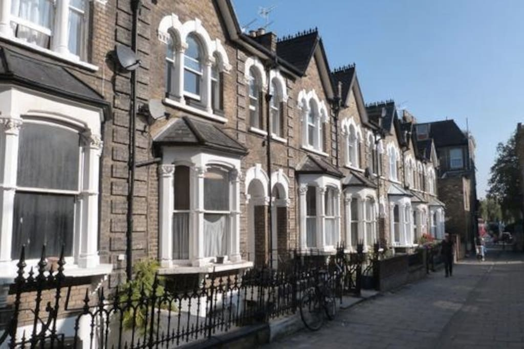 Clapton Passage- we are a first floor flat in one of these