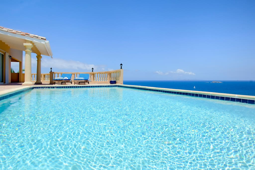 Pool with stunning unobstructed views