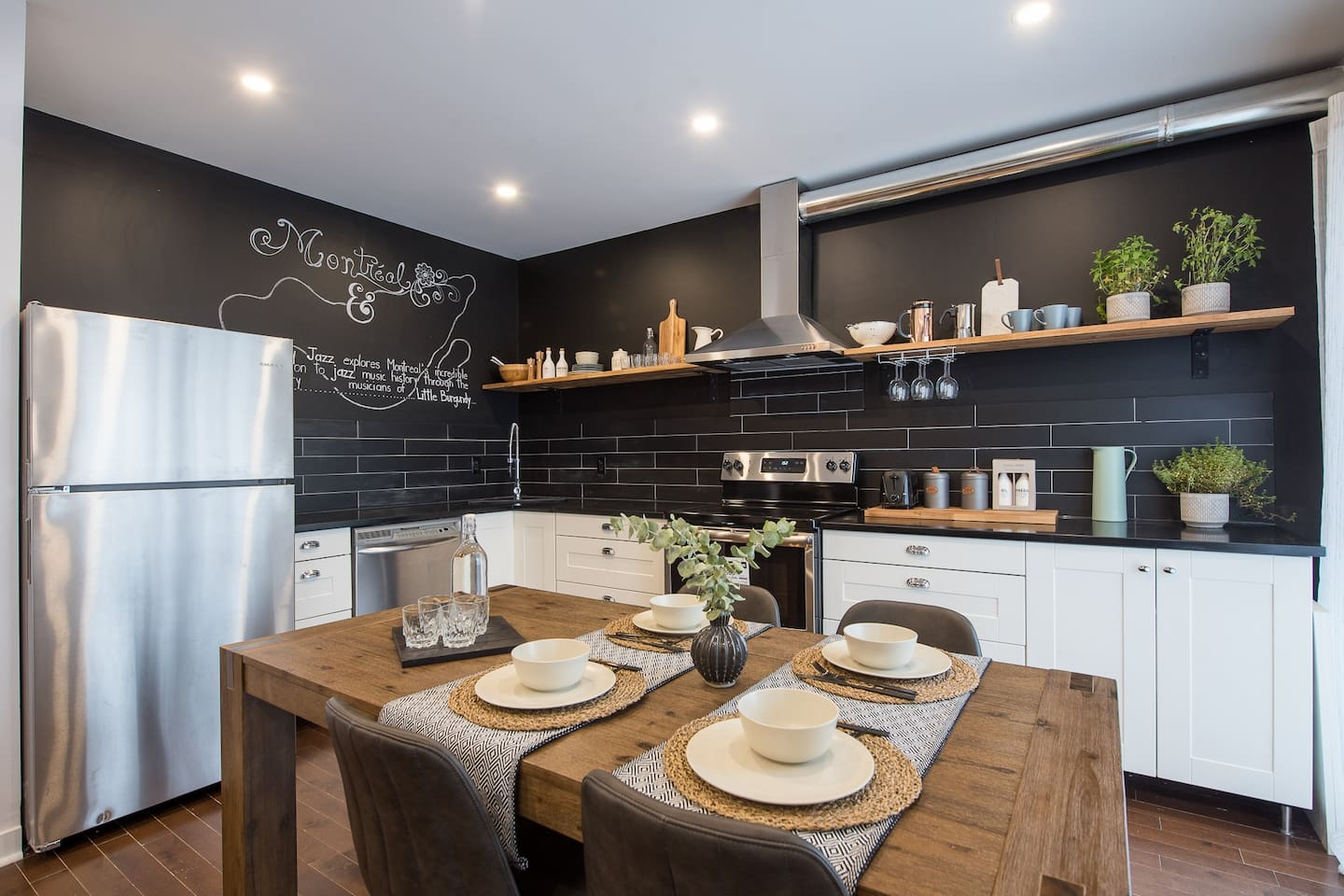 Fully functional kitchen + dining