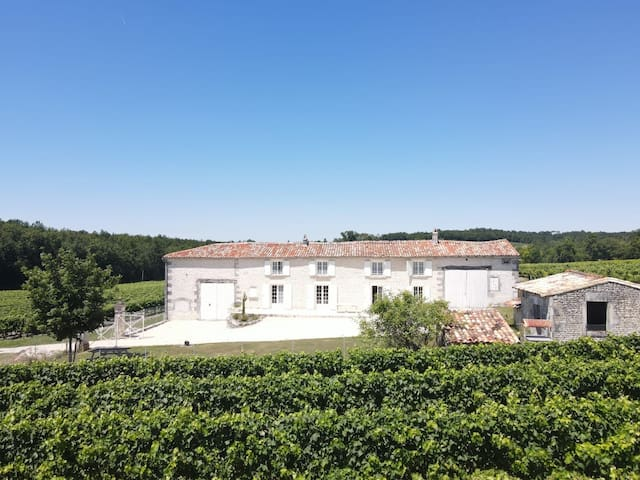 Maison charentaise au coeur  du vignoble