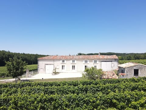 Maison charentaise au coeur  du vignoble spacieuse