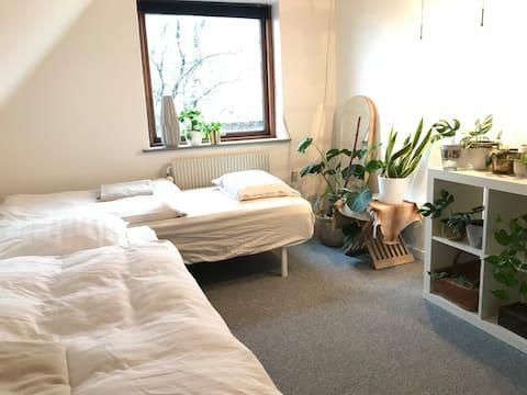 1 værelse + stue 13 min. fra BOXEN og MCH