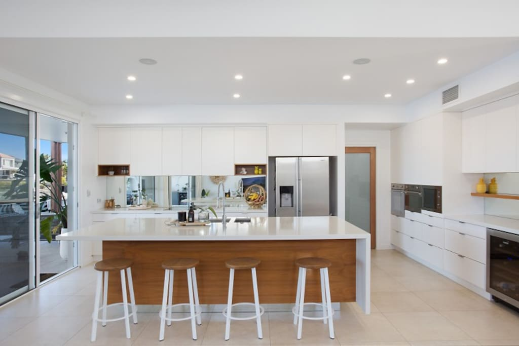 Designer kitchen with butlers pantry