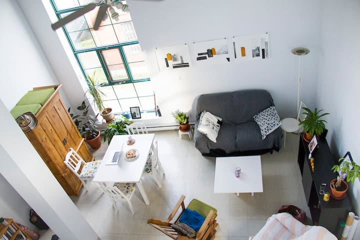 Room in renovated metal factory, NY loft style apt - Saguenay - Лофт