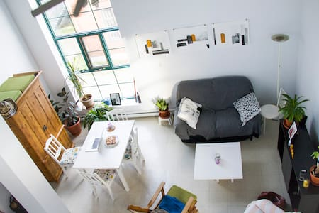 Room in renovated metal factory, NY loft style apt - Saguenay - ロフト