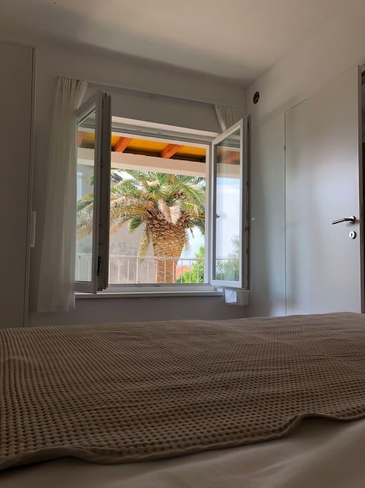 Schlafzimmer 1 - Ausblick
