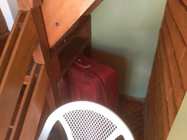 place for a suitcase