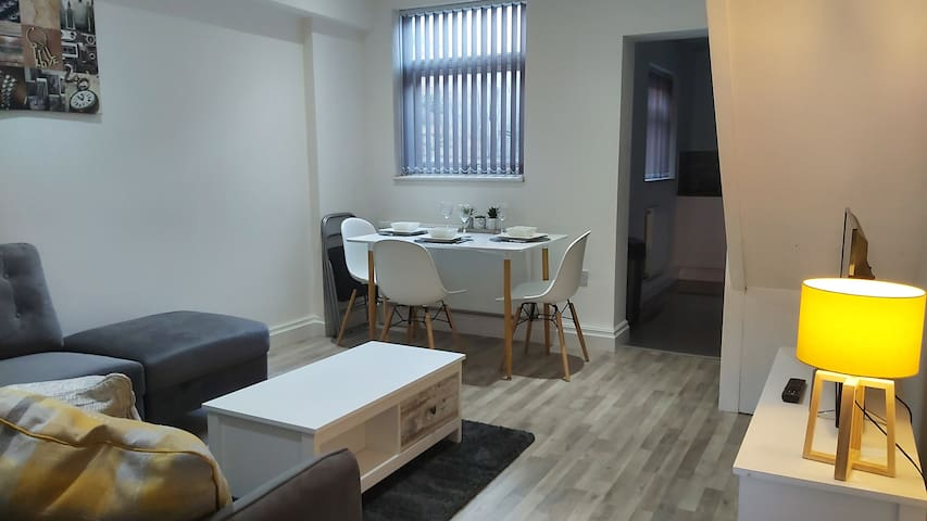 Light, airy lounge/diner. Relax on the super comfortable and roomy suite.