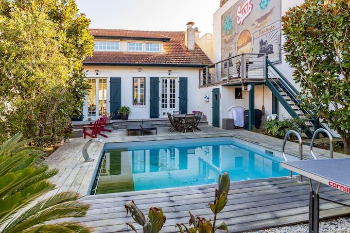 La Lumineuse Biarrote (piscine chauffée)