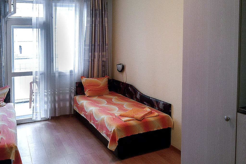 A Twin Bedroom.