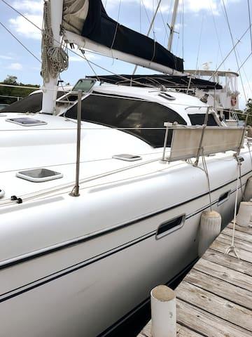 Catamaran at the Royal Jamaica Yacht Club