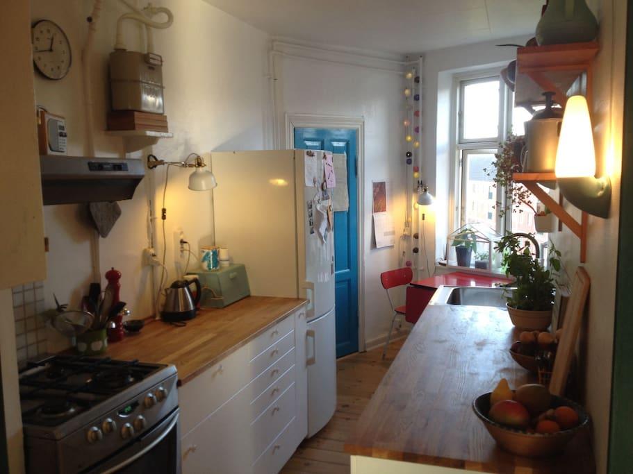 Nice, open kitchen
