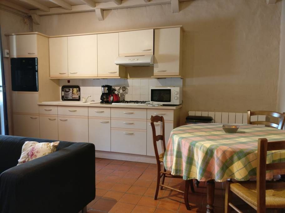 Vigne has a fully equipped cottage kitchen, complete with oven, cooktop and...