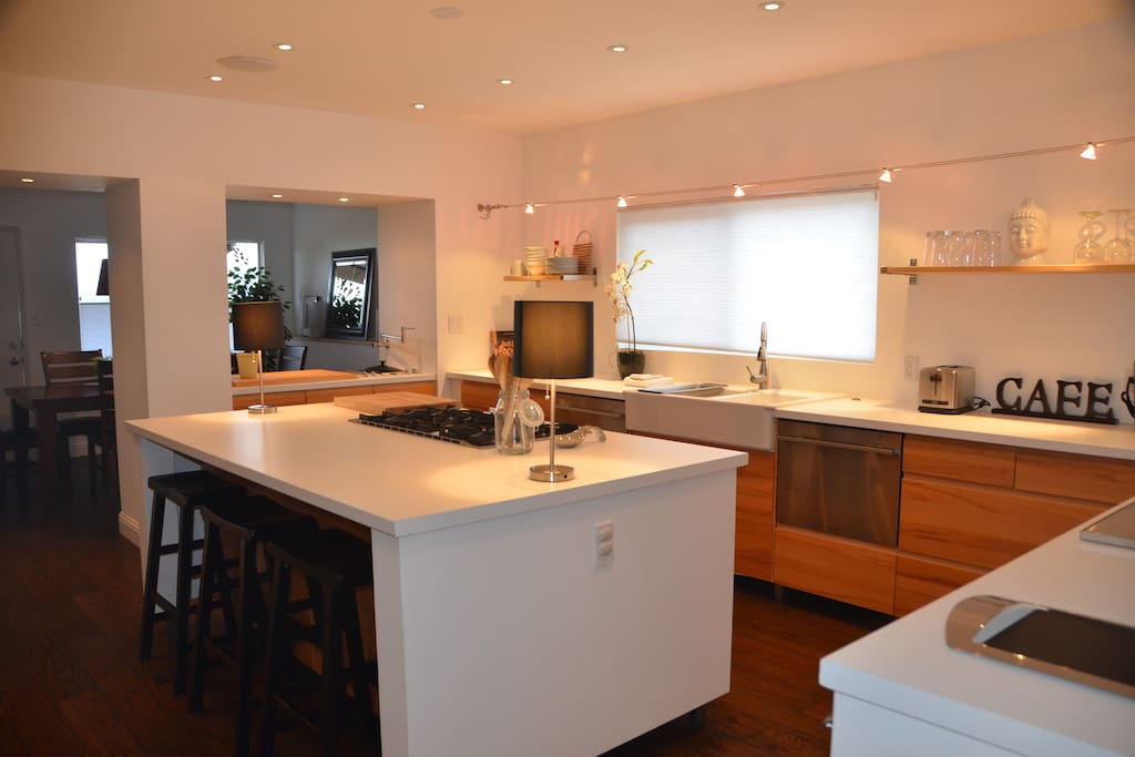 Spacious, open kitchen