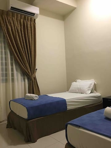 Second bedroom with aircond and 2 single bed