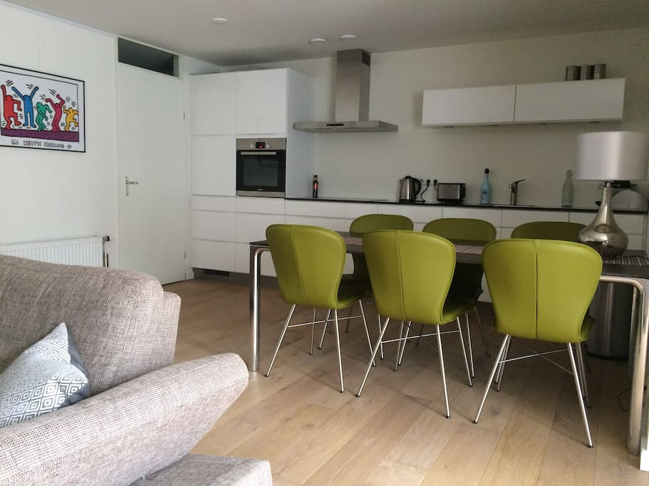 Modern open kitchen incl. all devices