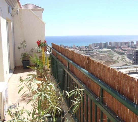 Penthouse with Town and Sea views in Aguadulce