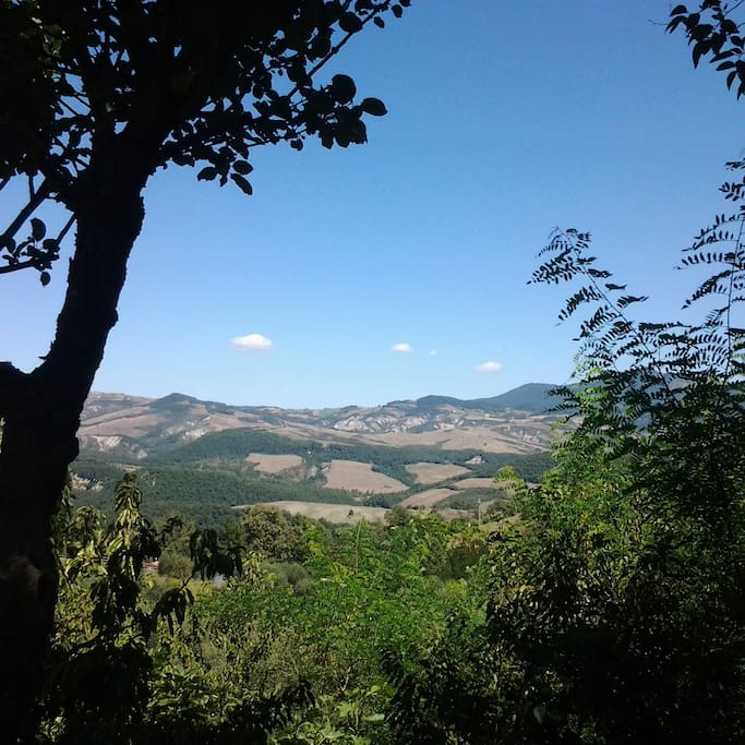 Il panorama che si vede dalla casa