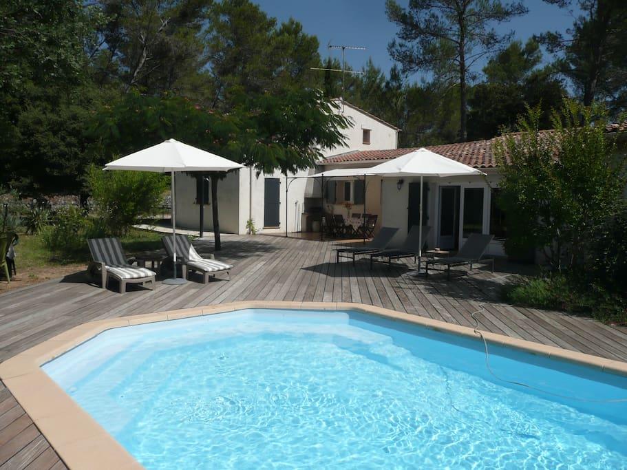 Villa de charme avec piscine villas louer lorgues - Location cote d azur avec piscine ...